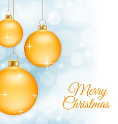 Yellow Christmas baubles vector image