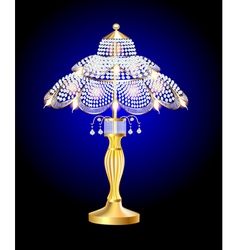 beautiful table lamp vector image vector image
