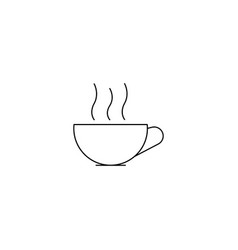 cup of hot drink line icon vector image