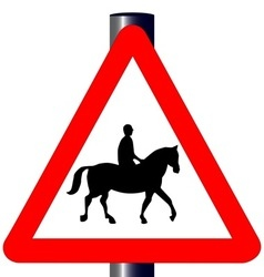 Horse and Rider Traffic Sign vector image
