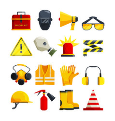 protection clothing for work and safety equipment vector image