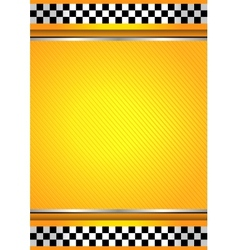 Racing background taxi vector image vector image