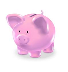 realistic money box pink pig vector image