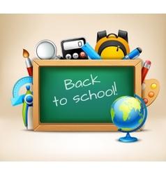 School chalkboard frame vector image