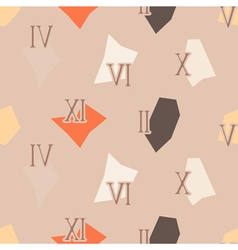 seamless background with Roman numerals vector image
