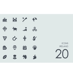 Set of Ireland icons vector image vector image