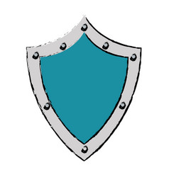 shield protection security technology symbol vector image