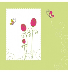 spring summer rose butterfly vector image