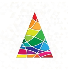 tree in rainbow colors vector image vector image
