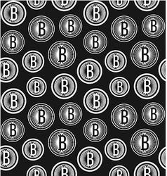 Bitcoin seamless pattern vector image