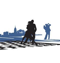 Couple Dancing Tango vector image vector image