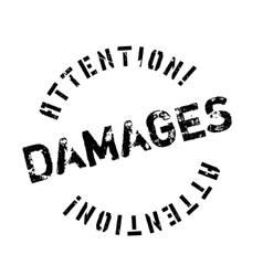 Damages rubber stamp vector image vector image