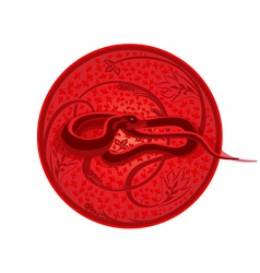 The traditional snake vector image vector image