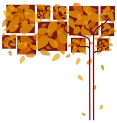 Abstract colorful autumn leaves vector image