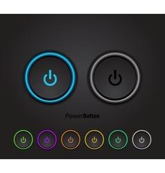 Black led light power button vector image