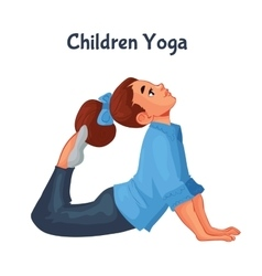 brown haired girl doing yoga vector image