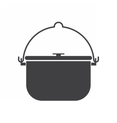 Camping Pot Icon vector image