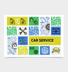 Car service infographic template vector