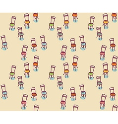 Chairs Hand-drawn graphic elements seamless vector image