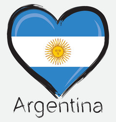 love Argentina flag vector image