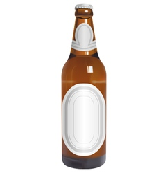 realistic beer bottle with blank labels vector image