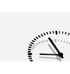 a clock vector image vector image