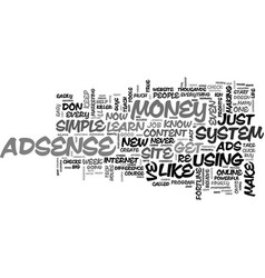 adsenseempire for you text word cloud concept vector image