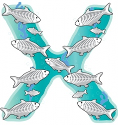 animal Alphabet x vector image