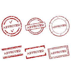 Approved stamps vector image vector image