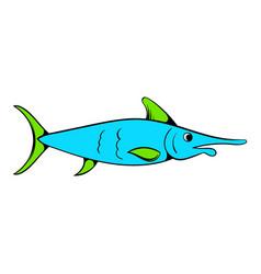 fresh fish icon icon cartoon vector image