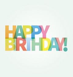 Happy birthday card colorful vector