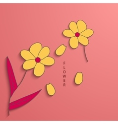modern flowers background for invitation vector image