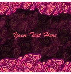 pink purple frame background vector image vector image