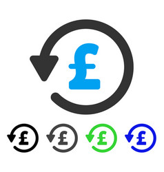 Pound rebate flat icon vector