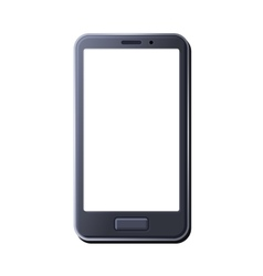 Realistic Smart Phone on White Background vector image vector image