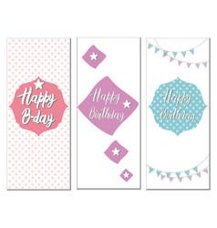 Set of birthday cards vector