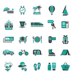 signs vacation travel recreation second vector image vector image