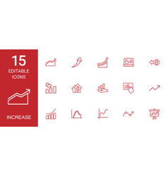 15 increase icons vector image