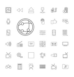 33 media icons vector