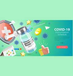 3d conceptual covid-19 vector image