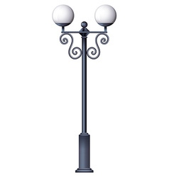A lamp post vector image