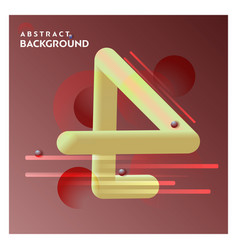 abstract line background with brown background vector image