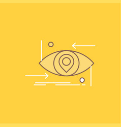 advanced future gen science technology eye flat vector image