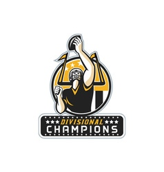American Football Divisional Champions Retro vector