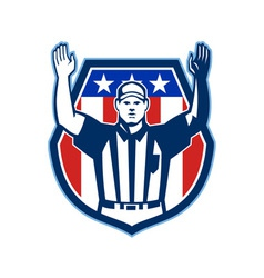 American Football Official Referee Touchdown vector