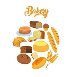 bakery food concept vector image