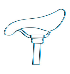bike saddle outline vector image