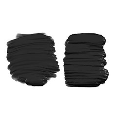 Black thick watercolor paint texture background vector