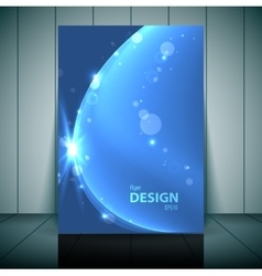 Blue Business Flayer Template vector image