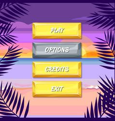 Cartoon style buttons vector